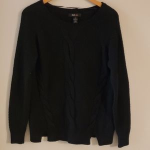 Style & Co Cable Knit Sweater Deep Black New
